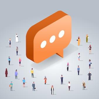 Chat concept met mensen uit het bedrijfsleven