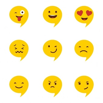 Chat emoticons set illustratie