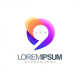 Chat kleurrijke logo