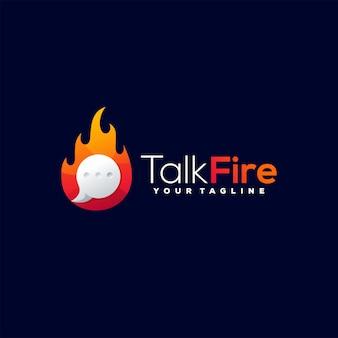 Chat kleurverloop logo ontwerp