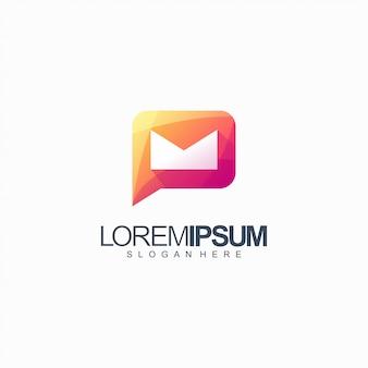 Chat logo ontwerp vectorillustratie