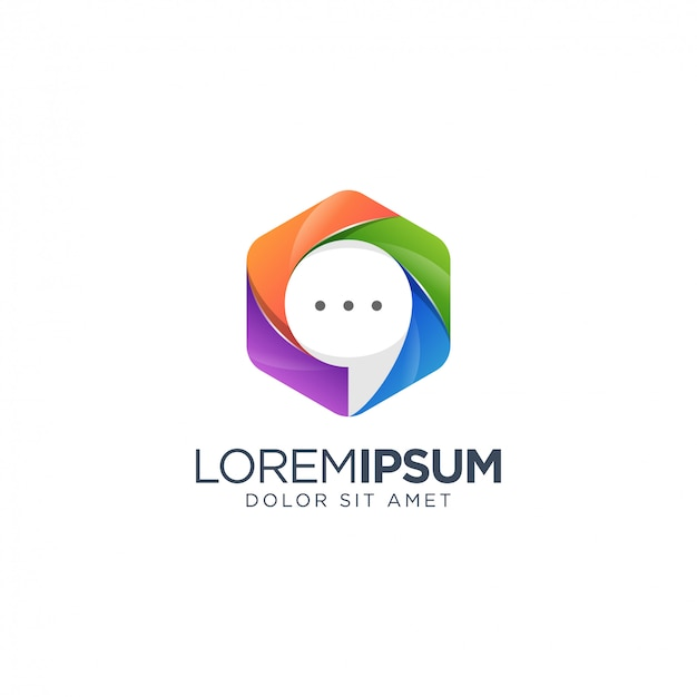 Chat logo ontwerp