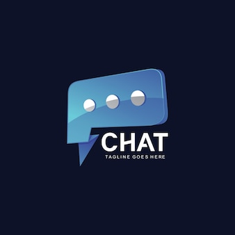 Chat logo ontwerpsjabloon