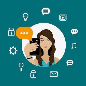 Chat mobiel ontwerp.
