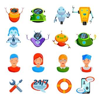 Chat symbolen platte set