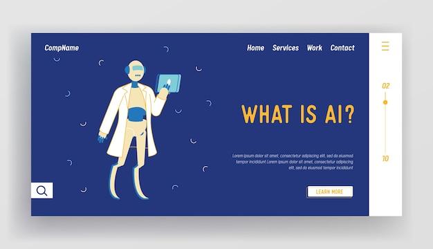 Chatbot-assistentie, vragen beantwoorden online bestemmingspaginasjabloon