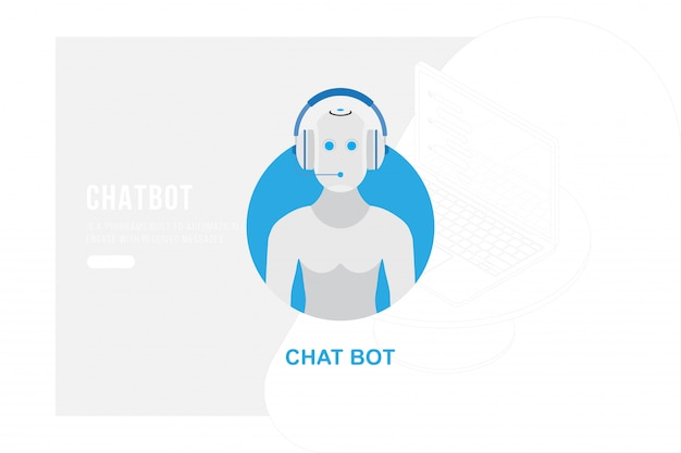 Chatbot avatar voor website, online digitale communicatie