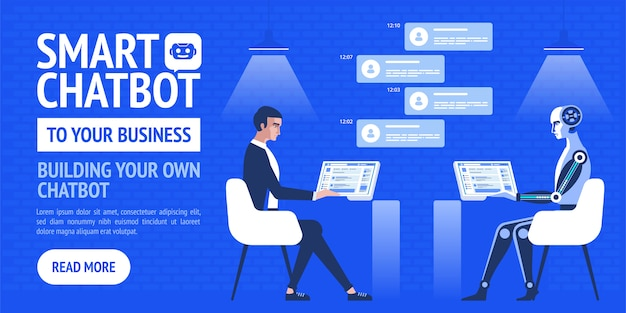 Chatbot bedrijf. moderne banner