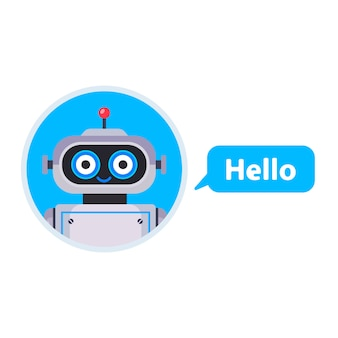 Chatbot begon een gesprek. assistent voor alle problemen. vlakke karakter illustratie