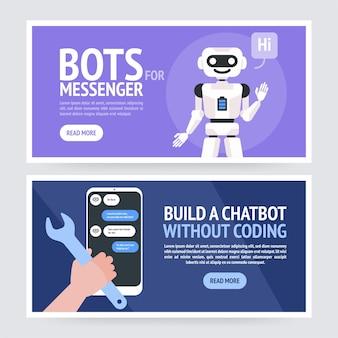 Chatbot concept illustratie