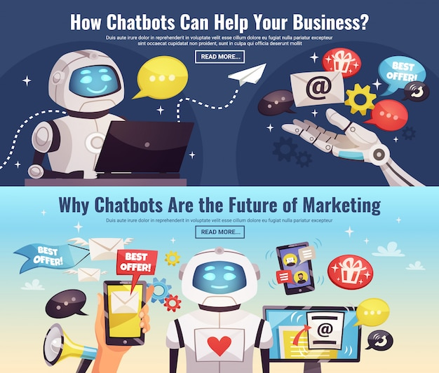 Chatbot horizontale banners