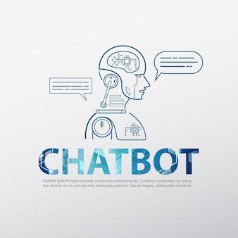 Chatbot-logo met robotachtige kunstmatige intelligentie
