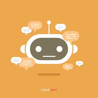 Chatbot met tekstballon