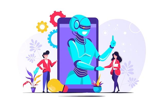 Chatbot, robotica online ondersteuning