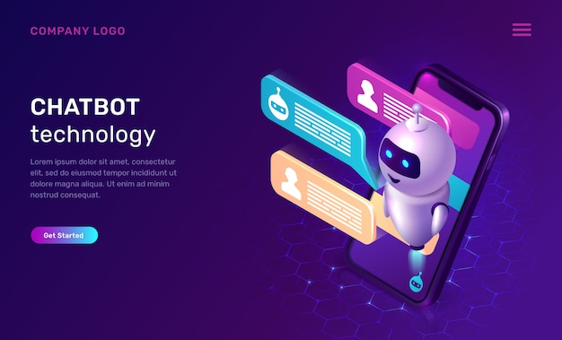 Chatbot technologie website sjabloon