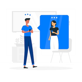 Chatten concept illustratie