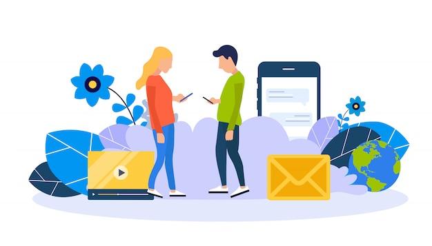 Chatten en netwerken op sociale media