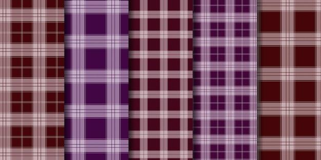 Check tartan plaid naadloos patroon