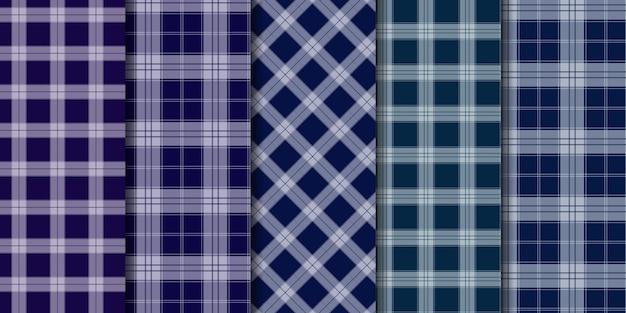Check tartan plaid naadloze patroon achtergrond