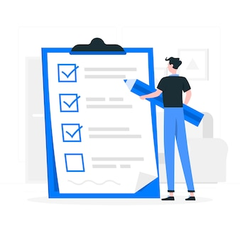 Checklist concept illustratie