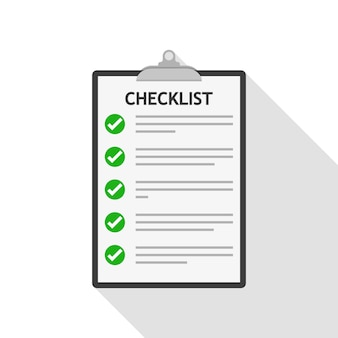 Checklist. illustratie