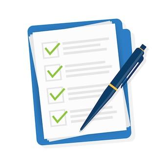 Checklist in vlakke stijl. v
