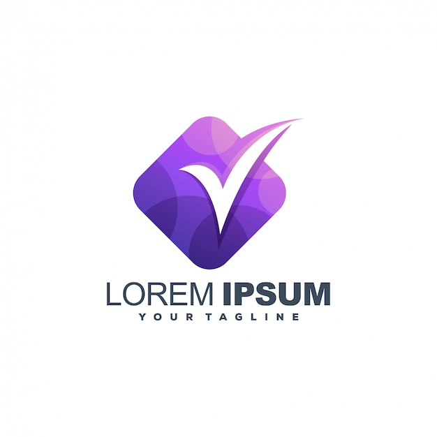 Checklist media kleur logo ontwerp