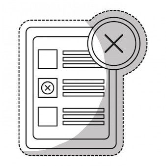 Checklist met crossmark