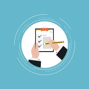 Checklist ontwerp als achtergrond