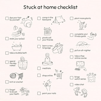 Checklist thuis