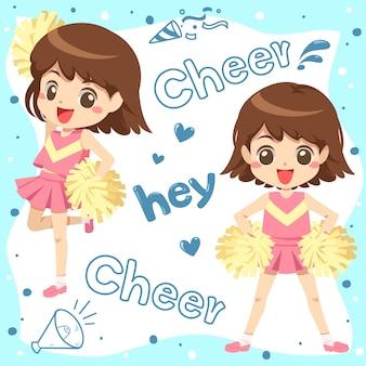 Cheerleader cartoon