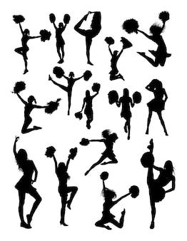Cheerleader gebaar silhouet