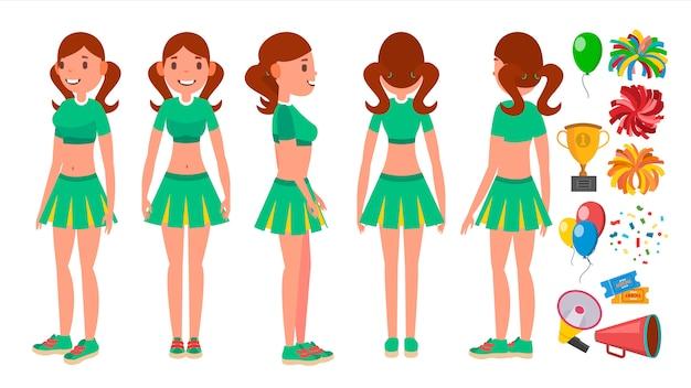 Cheerleaders meisjes set