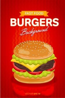 Cheeseburger verkoop sjabloon voor spandoek.