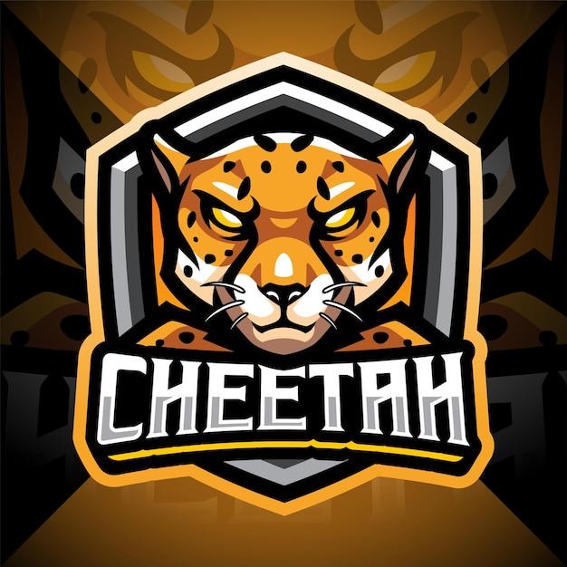 Cheetah esport mascotte logo ontwerp