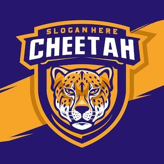 Cheetah hoofd mascotte logo