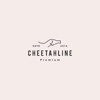 Cheetah logo vectorillustratie