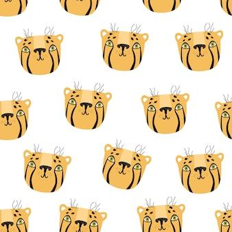 Cheetah naadloze scandinavische stijlpatroon