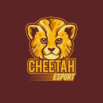 Cheetah sport logo mascot illustration
