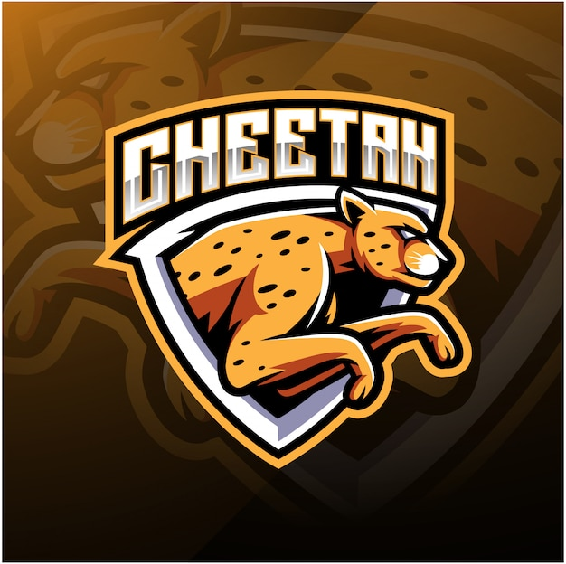 Cheetah sport mascotte logo ontwerp