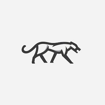 Cheetah walk logo vector