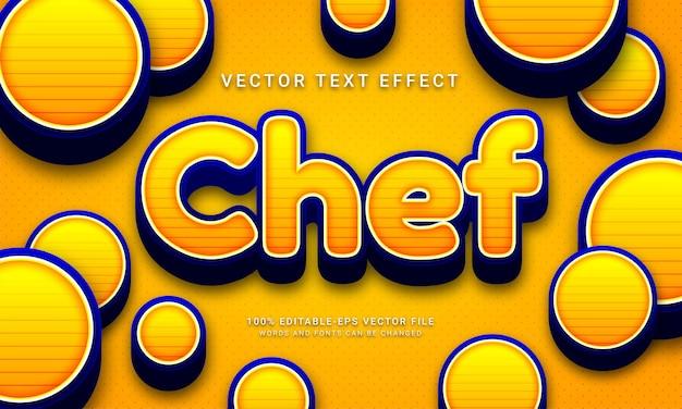 Chef bewerkbare tekststijl effect thema restaurant chef