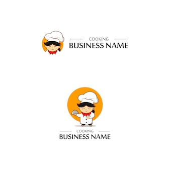 Chef cooking logo