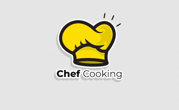 Chef hat logo sjabloon. restaurant logo ontwerp inspiratie. bakkerij logo