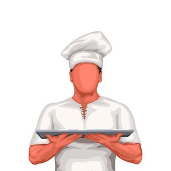 Chef houd lade