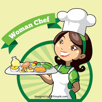Chef-kok achtergrond met heerlijke voorgerechten