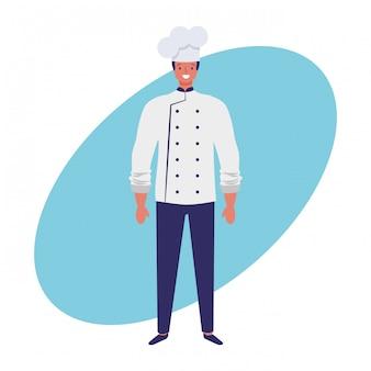 Chef-kok banen en beroep hand tekenen