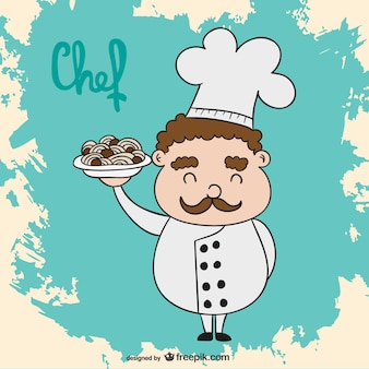 Chef-kok cartoon vector