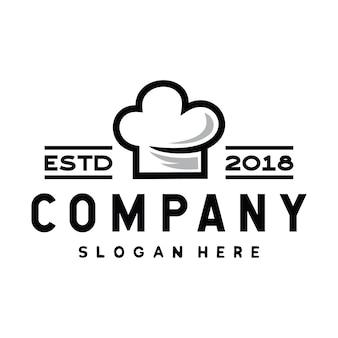 Chef-kok en koken logo ontwerp inspiratie vector