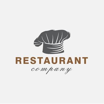 Chef-kok hat restaurant logo ontwerpsjabloon
